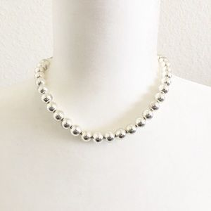 Lauren Ralph Lauren Silver Tone Bead Necklace